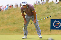 Ryan Fox (NZL) misses a putt on the 18th green during Round 4 of the Dubai Duty Free Irish Open at Ballyliffin Golf Club, Donegal on Sunday 8th July 2018.<br /> Picture:  Thos Caffrey / Golffile