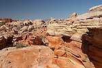 Rainbow colored sandstone formations