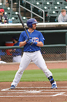 Iowa Cubs catcher Taylor Teagarden (30) at bat during a Pacific Coast League game against the Colorado Springs Sky Sox on May 10th, 2015 at Principal Park in Des Moines, Iowa.  Iowa defeated Colorado Springs 14-2.  (Brad Krause/Four Seam Images)