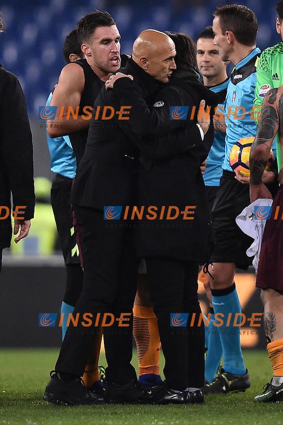 Luciano Spalletti, Vincenzo Montella a fine partita <br /> Roma 12-12-2016 Stadio Olimpico Football <br /> Campionato Serie A 2016/2017 <br /> AS Roma - Milan <br /> Foto Andrea Staccioli / Insidefoto