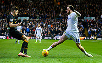 Leeds United's Pontus Jansson runs at Hull City's Reece Burke<br /> <br /> Photographer Alex Dodd/CameraSport<br /> <br /> The EFL Sky Bet Championship - Leeds United v Hull City - Saturday 29th December 2018 - Elland Road - Leeds<br /> <br /> World Copyright © 2018 CameraSport. All rights reserved. 43 Linden Ave. Countesthorpe. Leicester. England. LE8 5PG - Tel: +44 (0) 116 277 4147 - admin@camerasport.com - www.camerasport.com