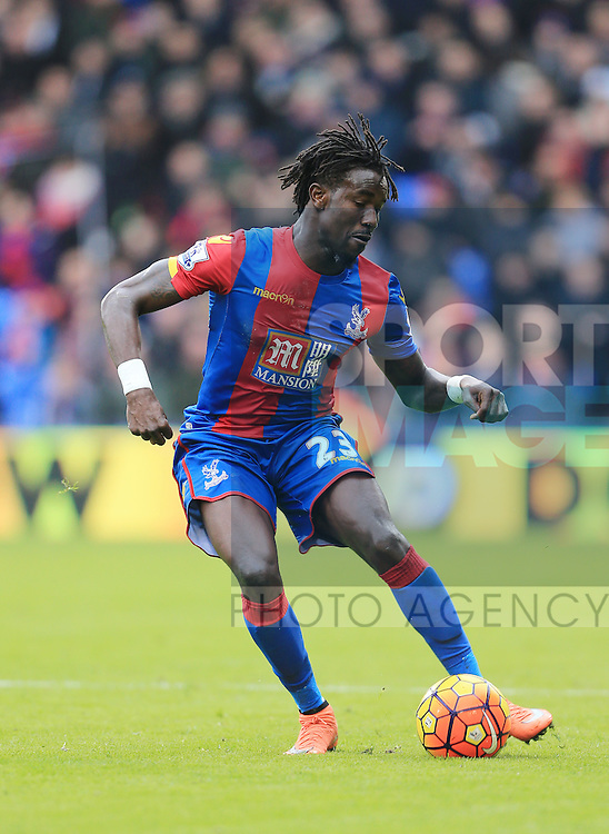 Crystal Palace's Pape Soare in action<br /> <br /> - English Premier League - Crystal Palace vs Liverpool  - Selhurst Park - London - England - 6th March 2016 - Pic David Klein/Sportimage