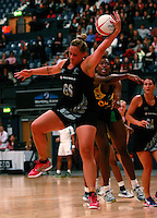 17.1.2014 New Zealand's Catherine Latu competes for ball with Jamaica's Stacian Facey during their netball test match in London, England. Mandatory Photo Credit (Pic: Tim Hales). ©Michael Bradley Photography.
