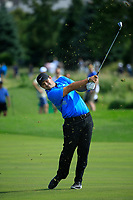 Patrick Reed (USA) in action during the final round of the Northern Trust played at Liberty National Golf Club, Jersey City, USA. 11/08/2019<br /> Picture: Golffile | Michael Cohen<br /> <br /> All photo usage must carry mandatory copyright credit (© Golffile | Michael Cohen)
