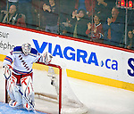 23 January 2010: New York Rangers' goaltender Henrik Lundqvist looks down at the ice after giving up a second period goal to the Montreal Canadiens at the Bell Centre in Montreal, Quebec, Canada. The Canadiens shut out the Rangers 6-0. Mandatory Credit: Ed Wolfstein Photo