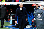 Real Madrid´s coach Zinedine Sidane before 2015/16 La Liga match between Real Madrid and Sporting de Gijon at Santiago Bernabeu stadium in Madrid, Spain. January 17, 2015. (ALTERPHOTOS/Victor Blanco)