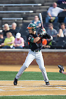 Willie Abreu (13) of the Miami Hurricanes at bat against the Wake Forest Demon Deacons at Wake Forest Baseball Park on March 21, 2015 in Winston-Salem, North Carolina.  The Hurricanes defeated the Demon Deacons 12-7.  (Brian Westerholt/Four Seam Images)