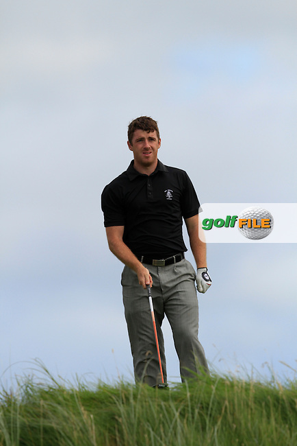Darragh Coghlan (Portmarnock) on the 6th tee during Round 2 of The South of Ireland in Lahinch Golf Club on Sunday 27th July 2014.<br /> Picture:  Thos Caffrey / www.golffile.ie