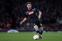 Dries Mertens of Napoli in action during Arsenal vs Napoli, UEFA Europa League Football at the Emirates Stadium on 11th April 2019