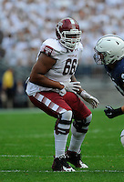 17 September 2016:  Temple T Dion Dawkins (66) pass blocks. The Penn State Nittany Lions defeated the Temple Owls 34-27 at Beaver Stadium in State College, PA. (Photo by Randy Litzinger/Icon Sportswire)