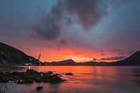 Sunrise over the International Port of Dutch Harbor, Aleutian Islands, Alaska