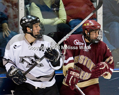 Cody Wild (Providence 6), Brian Gibbons (BC 17) - The Boston College Eagles and Providence Friars played to a 2-2 tie on Saturday, March 1, 2008 at Schneider Arena in Providence, Rhode Island.