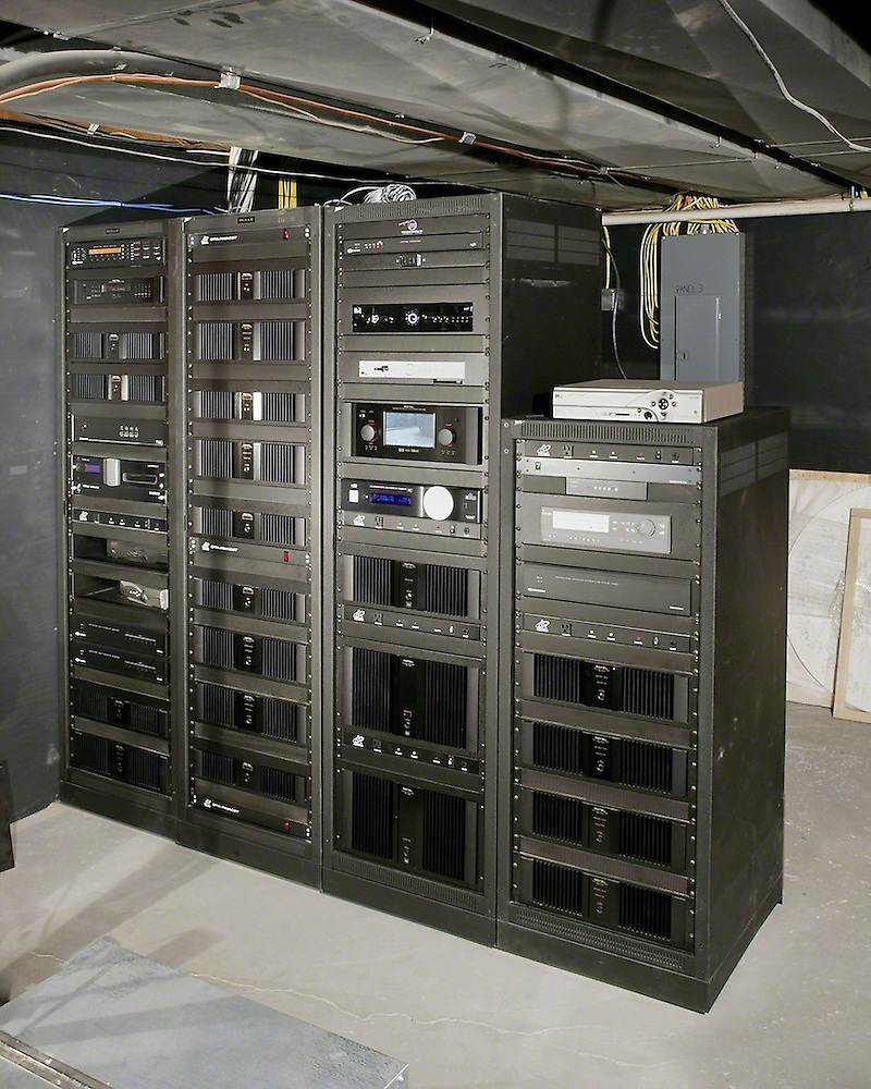 Equipment Room With Freestanding Racks