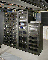 Equipment Room With Freestanding Racks