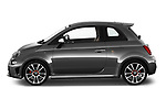 Car driver side profile view of a 2018 Abarth 595 Turismo 3 Door Hatchback