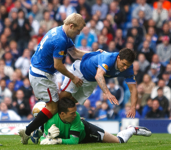 Jamie Langfield saves from Novo and Naismith