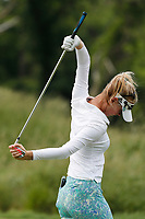 Jessica Korda (USA) stretches as she walks the third hole during the final round of the ShopRite LPGA Classic presented by Acer, Seaview Bay Club, Galloway, New Jersey, USA. 6/10/18.<br /> Picture: Golffile   Brian Spurlock<br /> <br /> <br /> All photo usage must carry mandatory copyright credit (&copy; Golffile   Brian Spurlock)