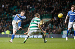 Celtic v St Johnstone...23.01.16   SPFL  Celtic Park, Glasgow<br /> Michael O'Halloran shoots wide<br /> Picture by Graeme Hart.<br /> Copyright Perthshire Picture Agency<br /> Tel: 01738 623350  Mobile: 07990 594431