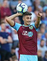 Burnley's Matthew Lowton<br /> <br /> Photographer Alex Dodd/CameraSport<br /> <br /> UEFA Europa League - Europa League Qualifying Round 2 2nd Leg - Burnley v Aberdeen - Thursday 2nd August 2018 - Turf Moor - Burnley<br />  <br /> World Copyright © 2018 CameraSport. All rights reserved. 43 Linden Ave. Countesthorpe. Leicester. England. LE8 5PG - Tel: +44 (0) 116 277 4147 - admin@camerasport.com - www.camerasport.com