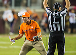 Clemson head coach Dabo Swinney reacts to a call in the first half of an NCAA college football game against Florida State in Tallahassee, Fla., Saturday, Oct. 29, 2016. (AP Photo/Mark Wallheiser)