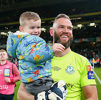 3rd November 2019; Aviva Stadium, Dublin, Leinster, Ireland; FAI Cup Final Football, Dundalk Football Club versus Shamrock Rovers; Alan Mannus of Shamrock Rovers with son Mason - Editorial Use