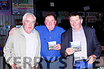 Eddie Moloney, and Ted Leizcyneski with Paudie McAulliffe Rathmore at the launch of his new CD Shades of Country at the Star Trax music venue in Knocknagree on Sunday