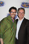 """Michael Mayer (director) and Tony Kushner (playwright)  at the Opening Night party of Signature Theatre Company's """"The Illusion"""" on June 5, 2001 at the West Bank Cafe with the play at the Peter Norton Space, New York City, New York.  (Photo by Sue Coflin/Max Photos)"""