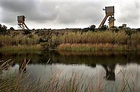 Italia, Sulcis, Nuraxi Figus. Miniera di Monte Sinni.<br /> Italy, Sulcis, Nuraxi Figus. <br /> Monte Sinni coal mine.