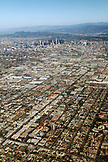 USA, Los Angeles, city skyline and neighborhoods looking towards the North