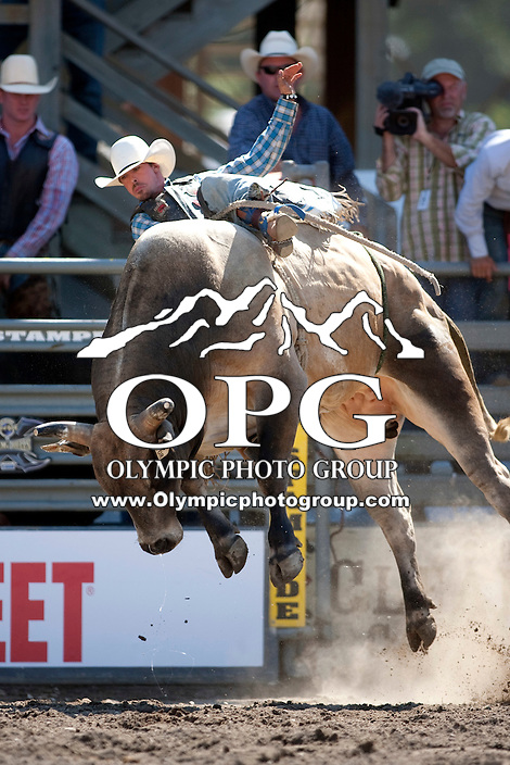 28 Aug 2011:  Cody Brixey was not able to score in the Seminole Hard Rock Extreme Bulls competition held at the Kitsap County Fair and Stampede Rodeo in Bremerton, Washington.