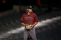 AZL Diamondbacks relief pitcher Jake Polancic (21) prepares to deliver a pitch during an Arizona League game against the AZL Angels at Tempe Diablo Stadium on June 27, 2018 in Tempe, Arizona. The AZL Angels defeated the AZL Diamondbacks 5-3. (Zachary Lucy/Four Seam Images)