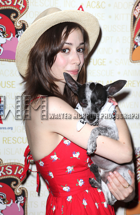 Cristin Milioti (Once).backstage at Broadway Barks 14 at the Booth Theatre on July 14, 2012 in New York City. Marking its 14th anniversary, Broadway Barks!, founded by Bernadette Peters and Mary Tyler Moore helps many of New York City's shelter animals find permanent homes and also inform New Yorkers about the plight of the thousands of homeless dogs and cats in the metropolitan area.