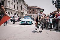 Louis Meintjes (ZAF/Dimension Data) to the start<br /> <br /> stage 13 Ferrara - Nervesa della Battaglia (180km)<br /> 101th Giro d'Italia 2018