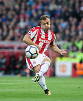 Xherdan Shaqiri of Stoke City during the Premier League match between Stoke City and Manchester United at the Britannia Stadium, Stoke-on-Trent, England on 9 September 2017. Photo by Andy Rowland.