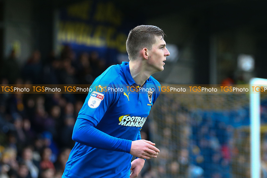 Steven Seddon of AFC Wimbledon during AFC Wimbledon vs Burton Albion, Sky Bet EFL League 1 Football at the Cherry Red Records Stadium on 9th February 2019