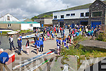 Action outside the boat houses at the Cahersiveen Regatta on Sunday.