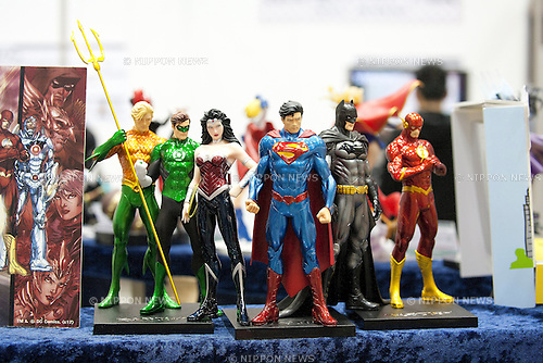 March 22, 2013, Tokyo, Japan - An action figures of Justice League at Tokyo International Anime Fair 2013 (TAF 2013).  The world's largest anime exhibition brings 223 companies which includes 30 companies from overseas at Tokyo Big Sight. The exhibition will be held from March 21 to 24. (Photo by Rodrigo Reyes Marin/AFLO)..