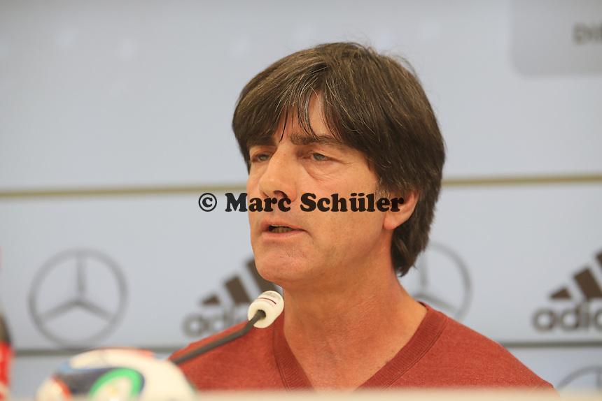 Bundestrainer Joachim Löw - Pressekonferenz der Deutschen Nationalmannschaft  im Rahmen der WM-Vorbereitung in St. Martin