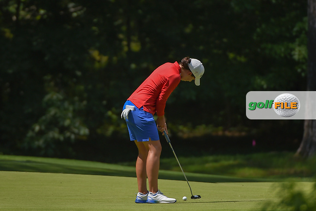 Carlota Ciganda (ESP) sinks her putt on 1 during round 3 of the U.S. Women's Open Championship, Shoal Creek Country Club, at Birmingham, Alabama, USA. 6/2/2018.<br /> Picture: Golffile | Ken Murray<br /> <br /> All photo usage must carry mandatory copyright credit (© Golffile | Ken Murray)
