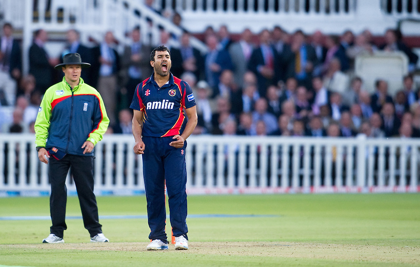 Essex Eagles' Ravi Bopara in action at Lords against Middlesex Panthers<br /> <br />  (Photo by Ashley Western/CameraSport) <br /> County Cricket - Friends Life t20 2013 - Middlesex v Essex - Thursday 04th July 2013 - Lord's, London <br /> <br />  &copy; CameraSport - 43 Linden Ave. Countesthorpe. Leicester. England. LE8 5PG - Tel: +44 (0) 116 277 4147 - admin@camerasport.com - www.camerasport.com