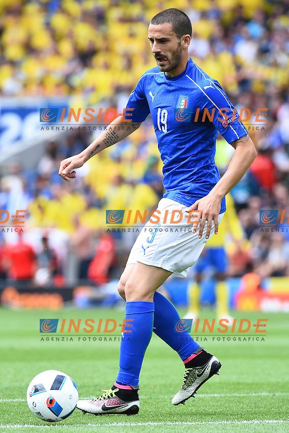 Leonardo Bonucci Italy <br /> Tolouse 17-06-2016 Stade Municipal<br /> Football Euro2016 Italy - Sweden / Italia - Svezia<br /> Group Stage Group E<br /> Foto Massimo Insabato / Insidefoto