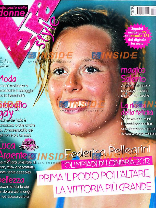 Vera Style Copertina Front Page.Federica Pellegrini .Foto Andrea Staccioli Insidefoto