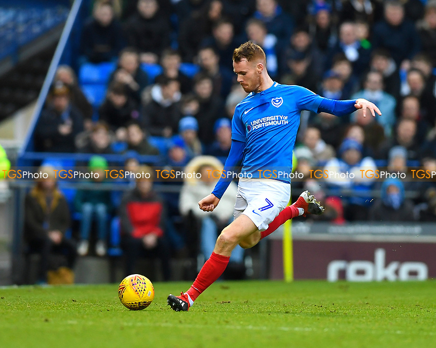 Tom Naylor of Portsmouth during Portsmouth vs Blackpool, Sky Bet EFL League 1 Football at Fratton Park on 12th January 2019