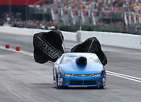 Jun 20, 2015; Bristol, TN, USA; NHRA pro stock driver Bo Butner during qualifying for the Thunder Valley Nationals at Bristol Dragway. Mandatory Credit: Mark J. Rebilas-