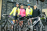 Enjoying the Fenit Lifeboat charity fun cycle on Saturday were Mary Dillane, Bridget O'Connor, Gerard O'Connor and Jackie Murphy, PRO