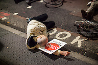 "27.11.2015 - ""No More Coffins - Stop Killing Cyclists Die-In & Vigil"" at TFL HQ"