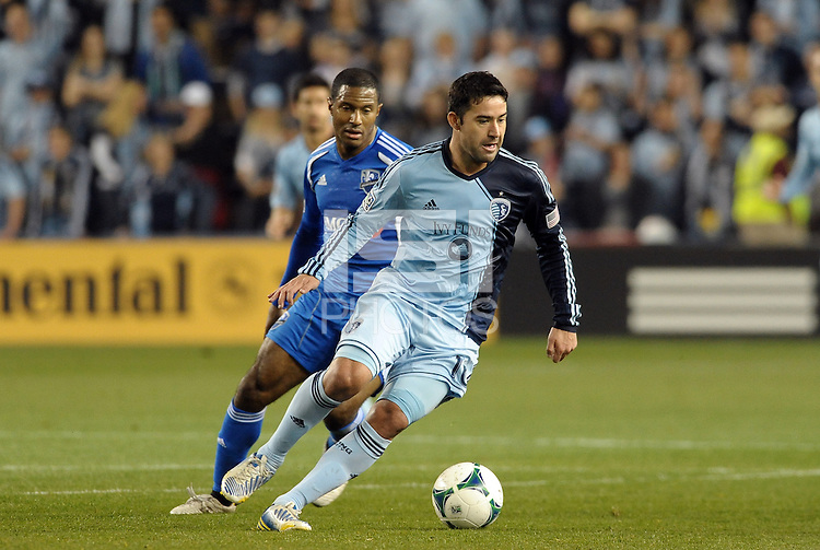 Claudio Bieler (16) forward Sporting KC in action..Sporting Kansas City defeated Montreal Impact 2-0 at Sporting Park, Kansas City, Kansas.
