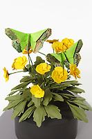 OrigamiUSA 2017 Holiday Tree at the American Museum of Natural History. Base 3 models:<br /> Buttercups: Designer - John Blackman, Folder &ndash; John Blackman<br /> Leaves: Designer &ndash; John Blackman, Folder &ndash; John Blackman<br /> Butterflies: Designer &ndash; Michael G. LaFosse, Folder &ndash; Delrosa Marshall