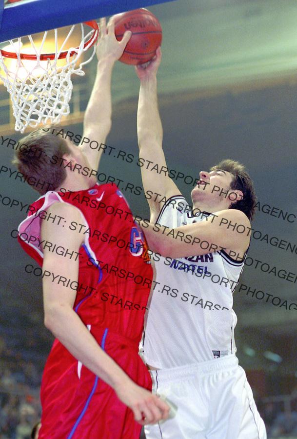 Kosarka.Partizan Vs. CSKA (Moscow), Euroleague.Nenad Krstic, right.Beograd, 2003.foto: Srdjan Stevanovic ©