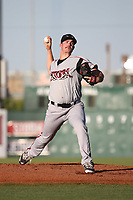 Jacob Nix (26) of the Lake Elsinore Storm pitches against the Lancaster JetHawks at The Hanger on June 14, 2017 in Lancaster, California. Lancaster defeated Lake Elsinore, 4-0. (Larry Goren/Four Seam Images)
